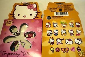 Hello Kitty Sanrio Temporary Tattoo Sticker Boxed Set Party Favor Supply Gift