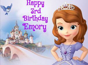 Sofia The First Edible Cake Image Topper Decoration Party Princess Disney Sophia