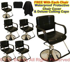 6 New Classic Hydraulic Barber Chairs Styling Hair Chair Beauty Salon Equipment