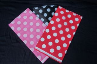 Mickey Minnie Mouse Black Red with White Polka Dots Birthday Party Table Cover