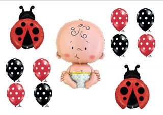 Lil Little Ladybug Baby Shower Balloons Decorations Girl Newborn First Birthday