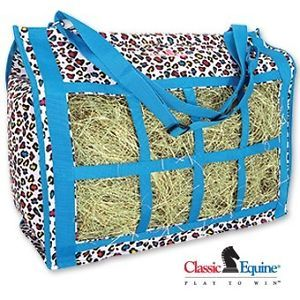Classic Equine Top Load Hay Bag Party Cheetah Horse Tack Barn and Trailer Supply