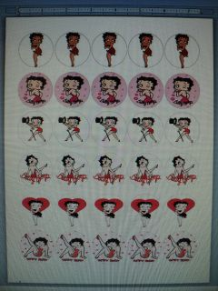 Betty Boop Edible Image Sheet Cake Cupcake Toppers Birthday Party 30 Ct