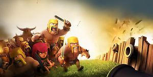 Clash of Clans Edible Birthday Cake Party Image 1 4 Sheet Topper Favor