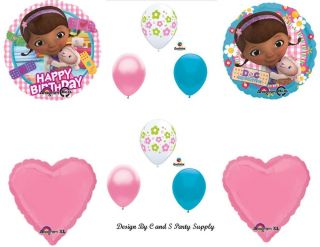 Doc McStuffins Happy Birthday Party Balloons Decorations Supplies Doctor New