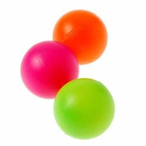 12 Colored Plastic Balls Carnival Circus Party Bucket Ball Toss Ping Pong Supply