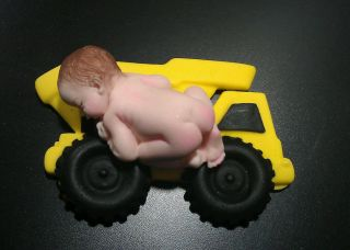 Fondant Edible Baby Tonka Toy Truck Cake Toppers Favors Decorations Baby Shower