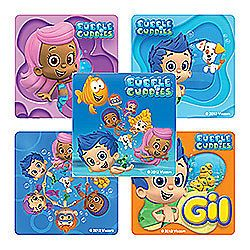 15 Bubble Guppies Stickers Kids Party Treat Loot Bags Favors Supply Nick Jr