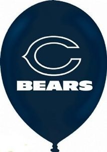Chicago Bears 6 Ct Latex Party Balloons Birthday Supplies