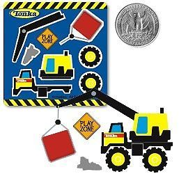 10 Make A Tonka Truck Stickers Construction Party Goody Loot Bag Favor Supply