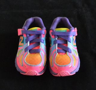 New Balance 890V3 Baby Girl Rainbow Multi Color Athletic Shoes Sneakers Size 5 M