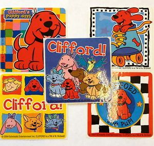 15 Clifford Big Red Dog Puppy Stickers Party Favors Preschool Teacher Supply