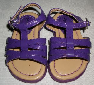 Children's Place Girls Sandals Toddler Size 3 Purple