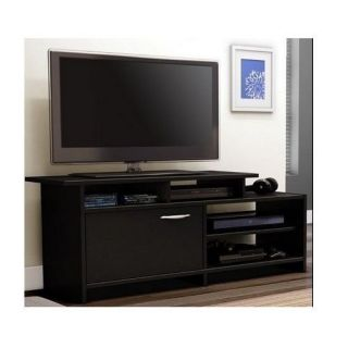 TV Cabinet Stand Entertainment Center Media Console Storage Wood Furniture Black