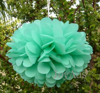 6X Mix Size Dark Mint Tissue Paper Pom Poms Wedding Party Baby Shower Decoration
