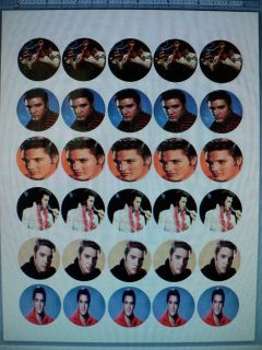 Elvis Presley Edible Image Sheet Cake Cupcake Toppers Birthday Party 30 Ct