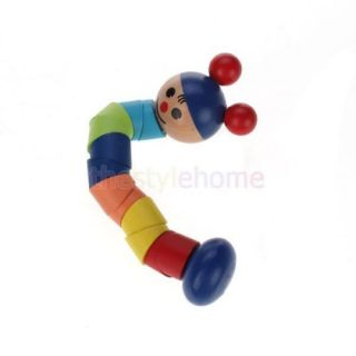 Colorful Wooden Toy Twistable Doll Educational Baby Train Wrist Flexibility Toy