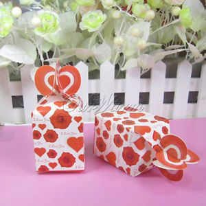 50 Rose Wedding Party Gift Favor Boxes Candy Supplies