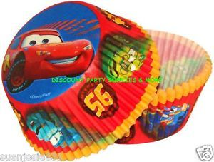 Disney Cars Baking Cups Wilton 50ct Lightning McQueen Party Cake Supplies
