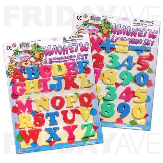 51 Pcs Color Magnetic Uppercase Alphabet Letters Numbers Operators Magnets Set