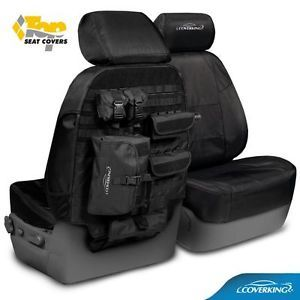 Toyota Tacoma Coverking Ballistic Tactical MOLLE Custom Fit Seat Covers Fronts