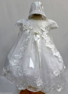 Baby Girl Christening Baptism Communion Dress Gown Size 0 1 2 3 4 0 30Month
