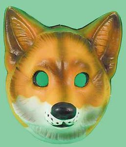 Plastic Fox Farm Animal Face Mask Fancydress