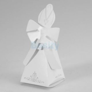1 Pair Tuxedo Dress Wedding Bridal Party Favor Candy Gift Boxes Ivory Board