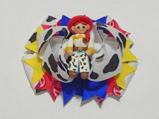 "Custom 4 5"" Hair Bow Disney Toy Story Jessie AH1"
