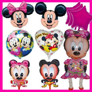 10pcs Disney Mickey Minnie Mouse Happy Birthday Balloon Party Set Baby Shower