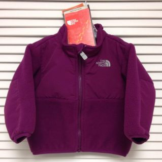 Auth The North Face Denali Purple Infant Baby Girl's Fleece Jacket Sz 6 12M