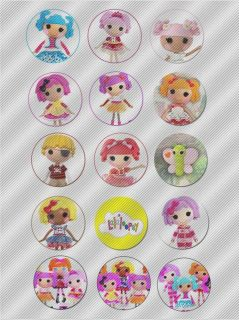 N466 Edible Image Birthday Decoration Cake Cookie Cupcake Toppers Lalaloopsy