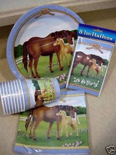 80pc Horse Pony Party Plates Cups Napkins Invites New Mare U Will Love It SEALED