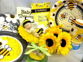 Bumble Bee Baby Favor and Centerpiece Baby Shower Cake Top Gifts