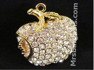 Crystal Apple Necklace Jump Flash Drive Thumb Memory 4GB USB Jewelry