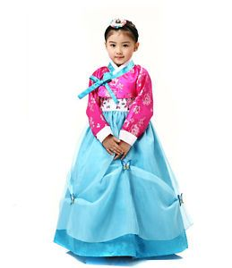 Girl HANBOK Korean Traditional Clothes Kids Dress Wedding Party Korea Baby 1039