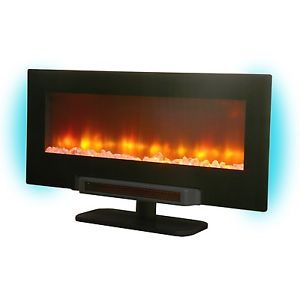 Grand Aspirations Electric Flat Panel Infrared Wall Mount Fireplace 601315SC