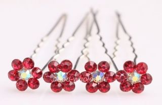 10pcs Bridal Jewelry Clear Crystal Rhinestone Hair Accessory Hair Pins 10 Colors