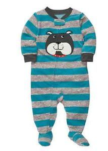 Carters Baby Boy Clothes Sleepwear Pajama Blue Gray Dog 12 18 24 Months