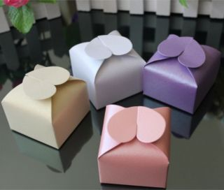 Heart Wedding Party Baby Shower Favor Gift Candy Bonbonniere Boxes XTH03