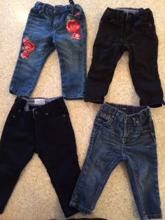 Baby Gap Girl Toddler Skinny Jeans Lot 12 18 Months