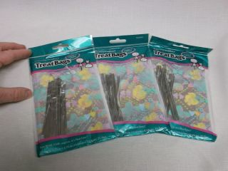 Baby Shower Candy Favor Bags Girl or Boy 75 Bags w Twist Ties Pink Blue Yellow