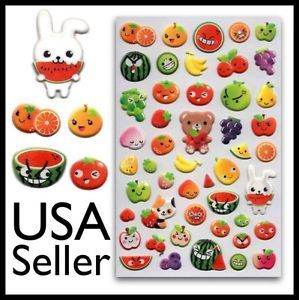 ✰ Cute Fruit Face Stickers Food Kids Craft Scrapbook