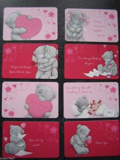 Me to You Tatty Teddy Love Message Keepsake Card Wallet Purse Credit Card Size