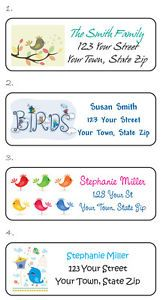 Personalized Cute Birds Bird Houses Cages Address Labels Buy 5 Get 1 Free