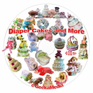 How to Make A Diaper Cake and Baby Shower Crafts Book Video Tutorials on DVD