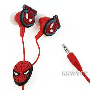 Spider Man Funny Cartoon Cute Girl Boy in Ear Headphone Earbuds Earphone  New