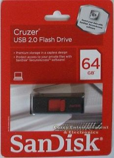 SanDisk Cruzer 64 GB 64GB USB Flash Drive San Disk Storage Gigabyte New
