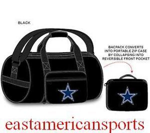 Dallas Cowboys NFL Fold Away Duffle Bag Gym Game Duffel Case Pack School Travel
