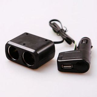 12V Car Auto Truck Boat Cigarette Lighter Extension Cable Socket Cord Converter